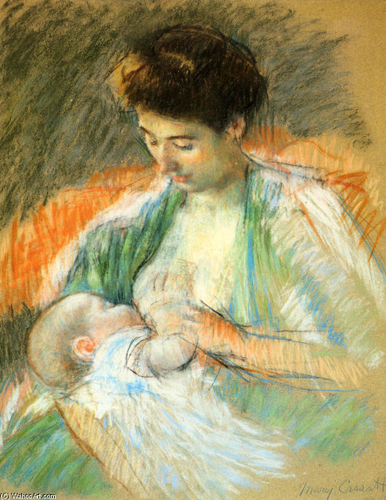 famous painting Mother Rose Nursing Her Child of Mary Stevenson Cassatt