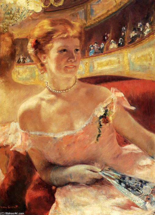 famous painting Woman with a Pearl Necklace of Mary Stevenson Cassatt