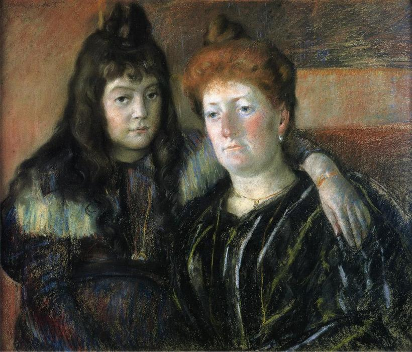 famous painting Madame Meerson and Her Daughter of Mary Stevenson Cassatt