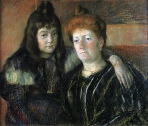 Mary Stevenson Cassatt - Madame Meerson and Her Daughter