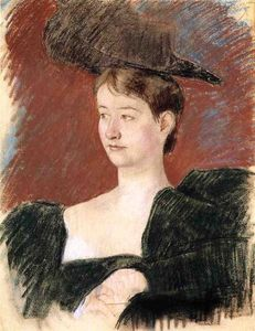 Mary Stevenson Cassatt - Portrait of a Young Woman in Green