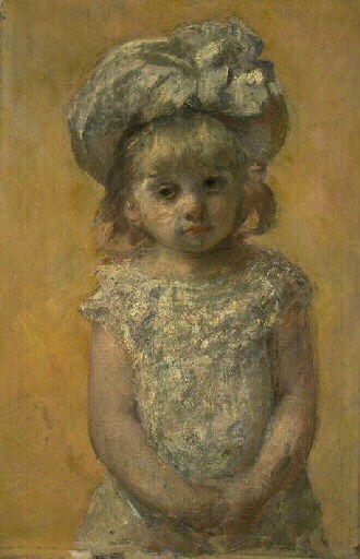 famous painting Portrait of girl of Mary Stevenson Cassatt
