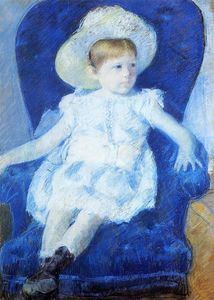 Mary Stevenson Cassatt - Elsie in a Blue Chair