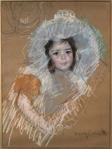 Mary Stevenson Cassatt - Margot Lux with a wide hat