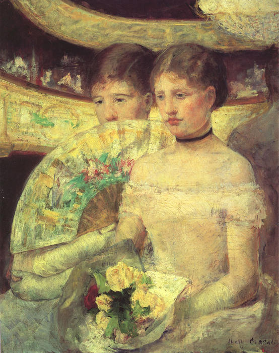 famous painting The Loge of Mary Stevenson Cassatt