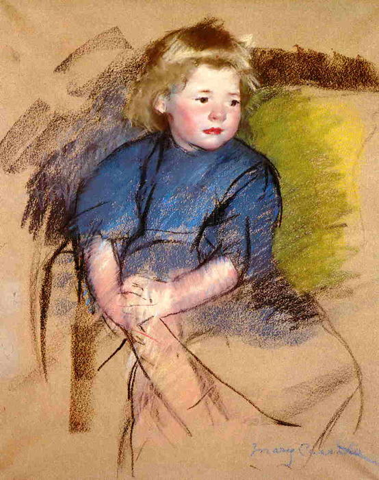 famous painting Portrait of a Young Girl (Simone) of Mary Stevenson Cassatt