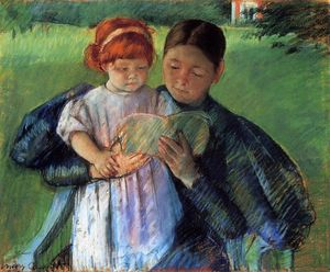 Mary Stevenson Cassatt - Nurse Reading to a Little Girl