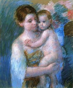 Mary Stevenson Cassatt - Mother Holding Her Baby