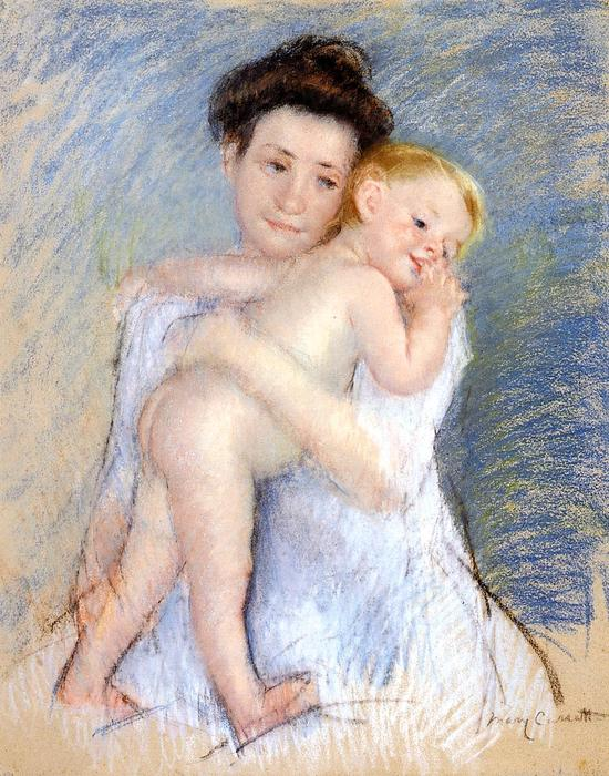 famous painting Maternal Tenderness of Mary Stevenson Cassatt