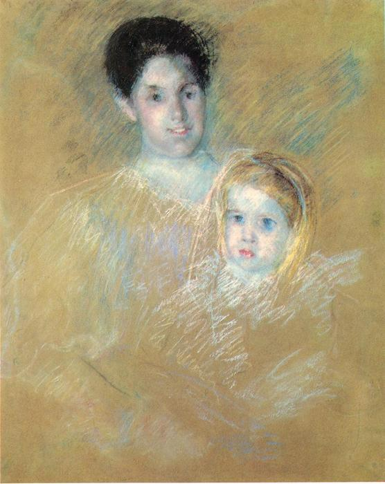 famous painting Smiling Mother with Sober Faced Child of Mary Stevenson Cassatt