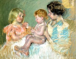 Mary Stevenson Cassatt - Sara and Her Mother with the Baby