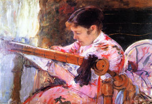 Mary Stevenson Cassatt - Lydia at the Tapestry Loom