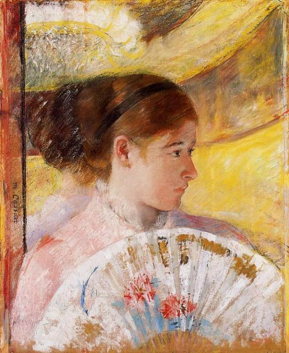 famous painting At the Theater of Mary Stevenson Cassatt