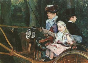 Mary Stevenson Cassatt - A woman and child in the driving seat