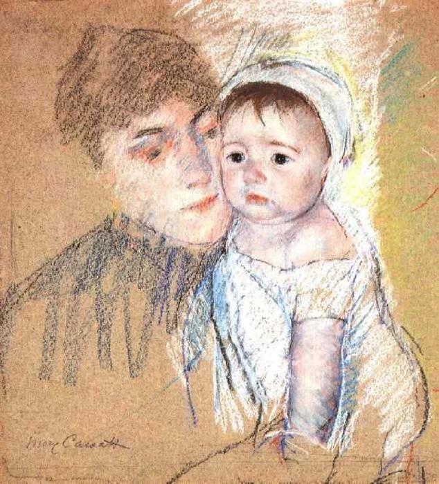 famous painting Baby Bill in Cap and Shift of Mary Stevenson Cassatt