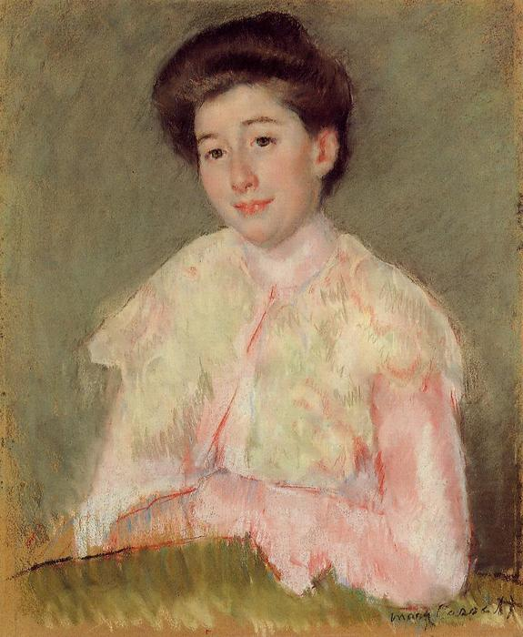 famous painting Portrait of a Lady of Mary Stevenson Cassatt