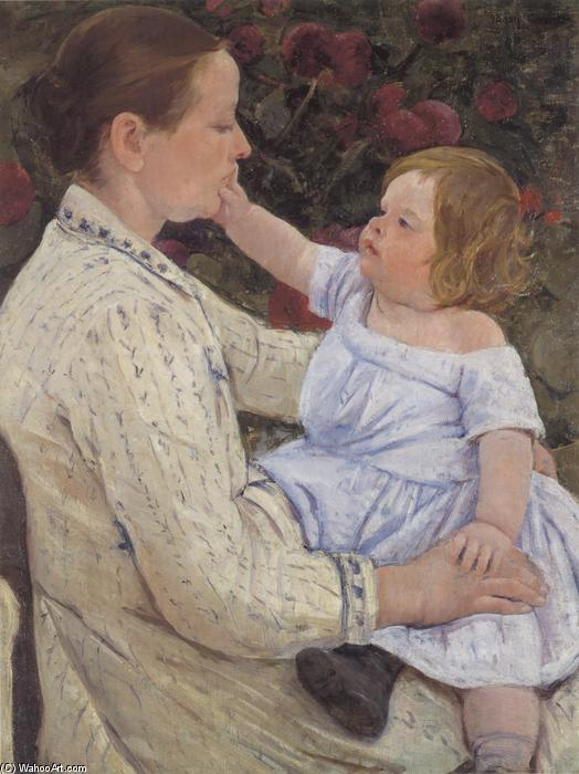 famous painting The Child`s Caress of Mary Stevenson Cassatt
