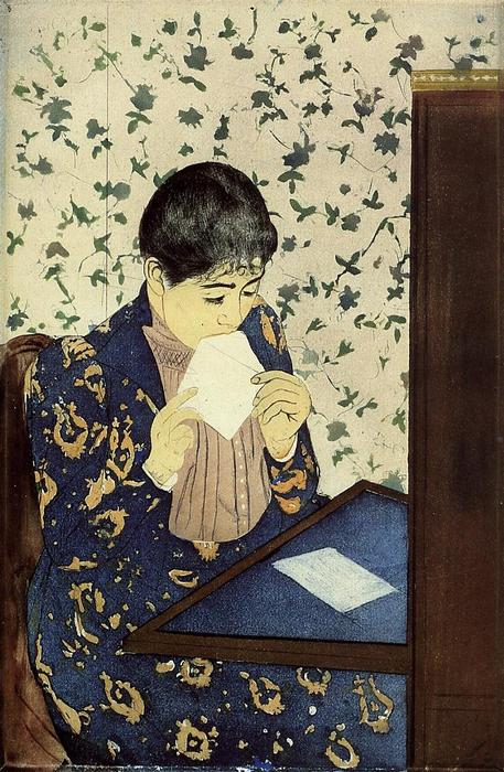 famous painting The Letter of Mary Stevenson Cassatt