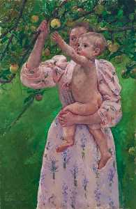Mary Stevenson Cassatt - Baby Reaching For An Apple