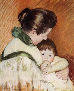 Mary Stevenson Cassatt - Sleepy Thomas Sucking His Thumb