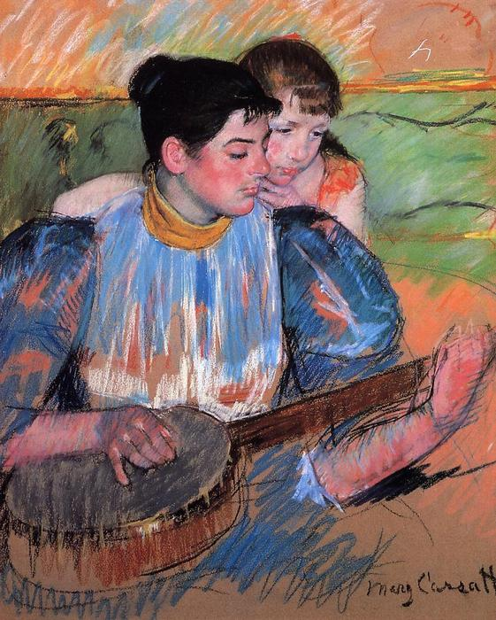 famous painting The Banjo Lesson of Mary Stevenson Cassatt