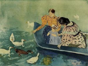 Mary Stevenson Cassatt - Feeding the Ducks