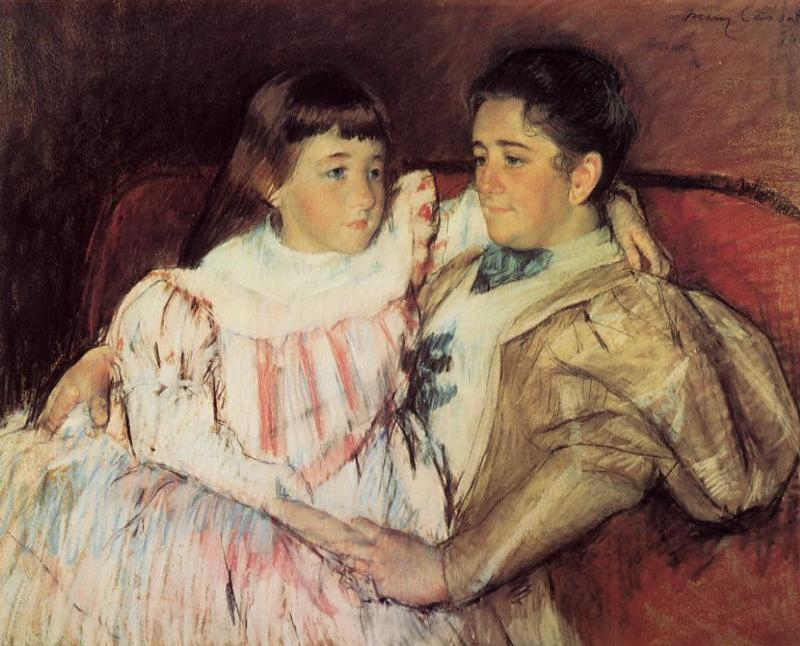 famous painting Portrait of Mrs Havemeyer and Her Daughter Electra of Mary Stevenson Cassatt