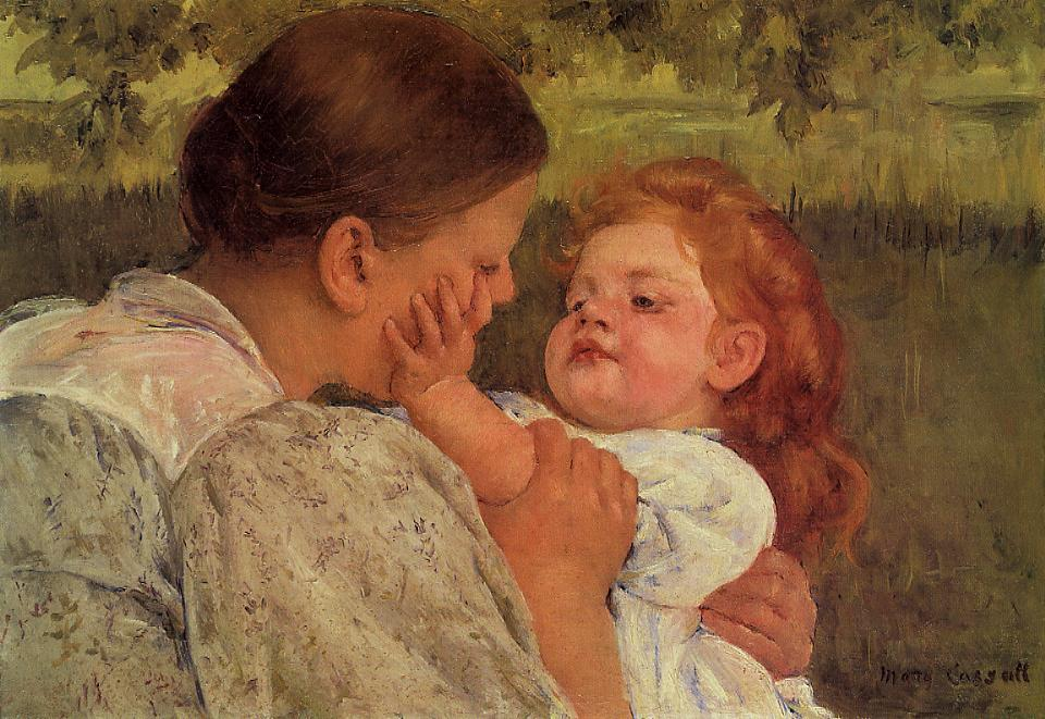 famous painting Maternal Caress of Mary Stevenson Cassatt
