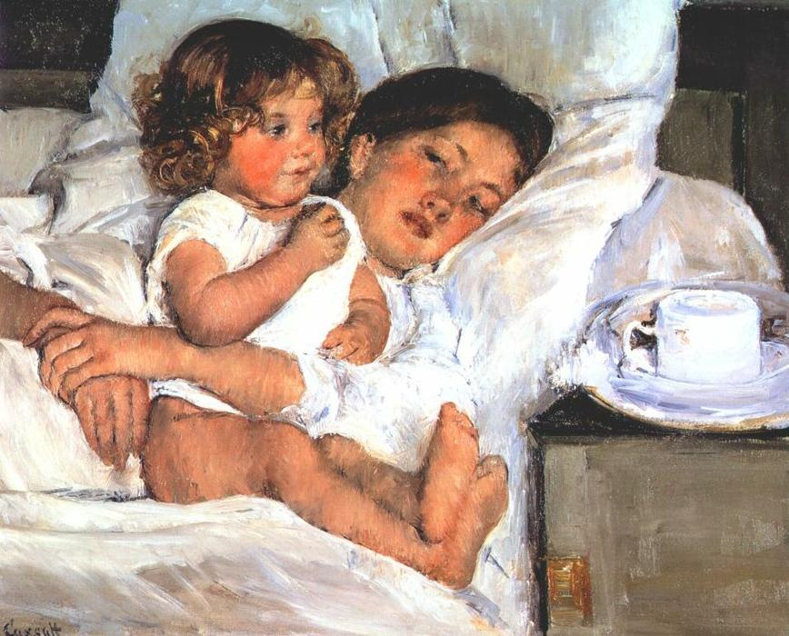 famous painting Breakfast in Bed of Mary Stevenson Cassatt