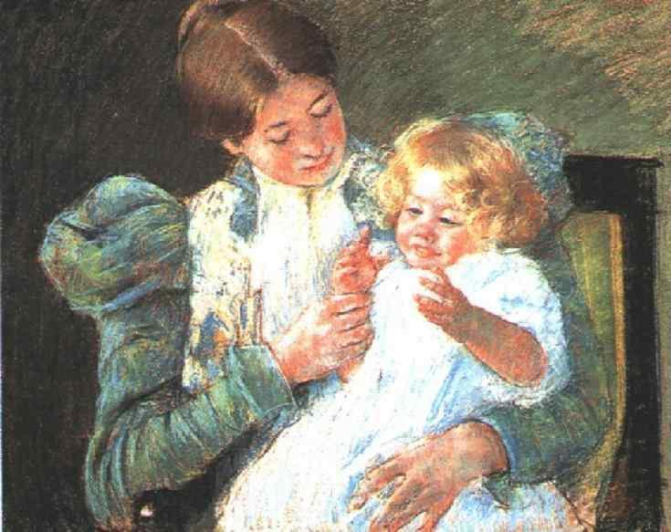 famous painting Pattycake of Mary Stevenson Cassatt