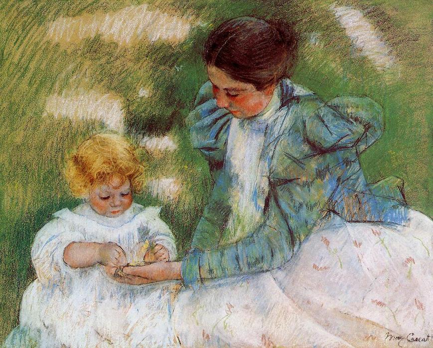 famous painting Mother Playing with Her Child of Mary Stevenson Cassatt