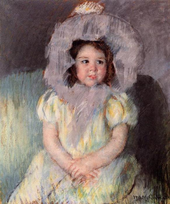 famous painting Margot in White of Mary Stevenson Cassatt