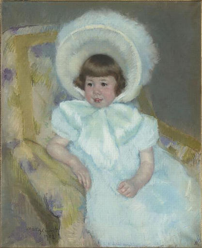 famous painting Portrait of Louise Aurora child Villeboeuf of Mary Stevenson Cassatt