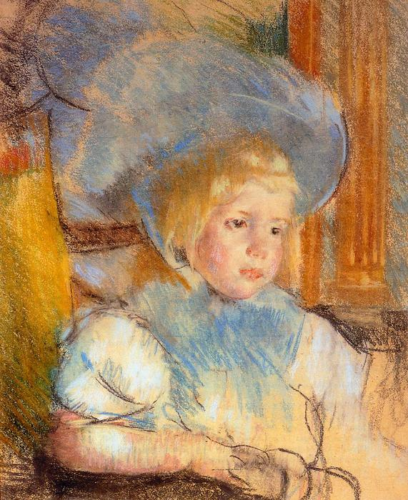 famous painting Simone in Plumed Hat of Mary Stevenson Cassatt