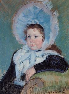 Mary Stevenson Cassatt - Dorothy in a Very Large Bonnet and a Dark Coat