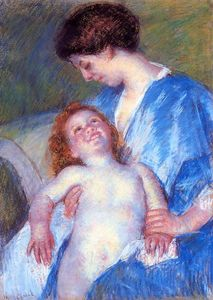 Mary Stevenson Cassatt - Baby Smiling up at Her Mother