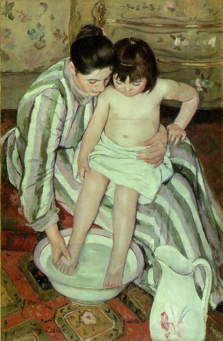 famous painting The bath of Mary Stevenson Cassatt