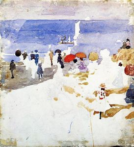 Maurice Brazil Prendergast - Sketch Figures on Beach (also known as Early Beach)