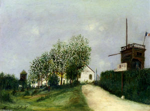 Maurice Utrillo - Moulin in Sannois