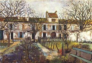 Maurice Utrillo - The Garden at Montmagny