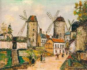 Maurice Utrillo - Windmills of Montmartre