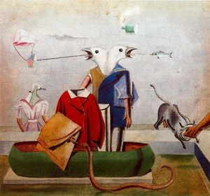 Max Ernst - Birds also Birds, Fish Snake and Scarecrow