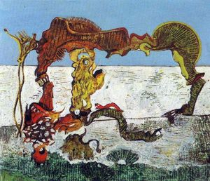Max Ernst - Child, Horse, Flower and Snake