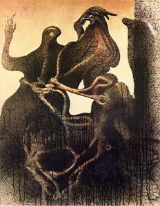 Max Ernst - Birth of Zoomorph Couple