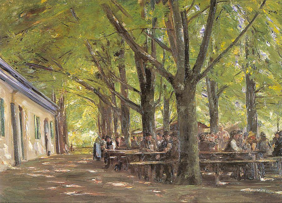 famous painting A Country Brasserie, Brannenburg, Bavaria of Max Liebermann