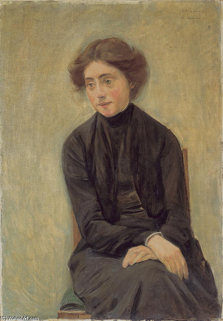 famous painting Portrait of Miss Hedwig Ruetz of Max Liebermann
