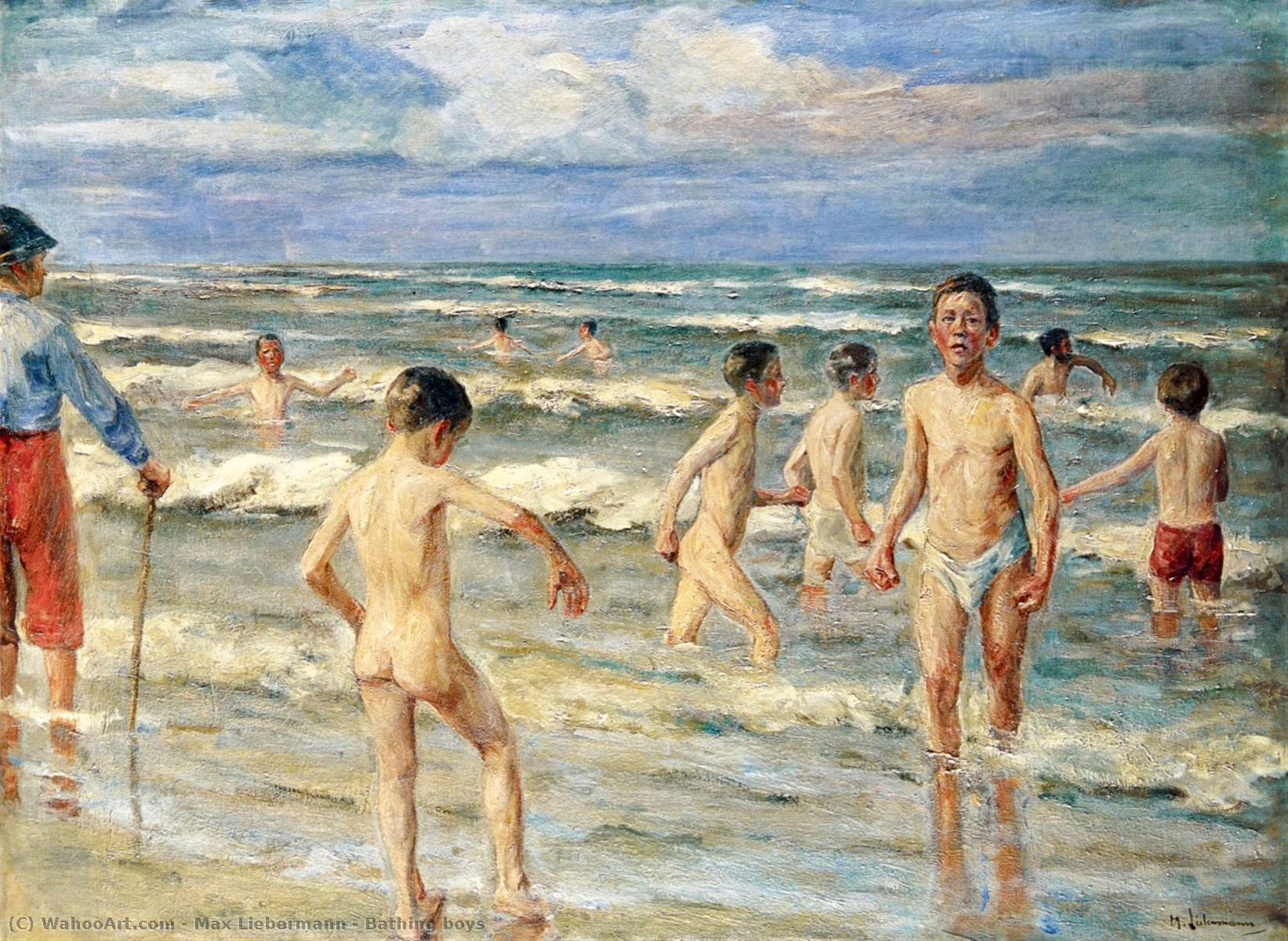 famous painting Bathing boys of Max Liebermann
