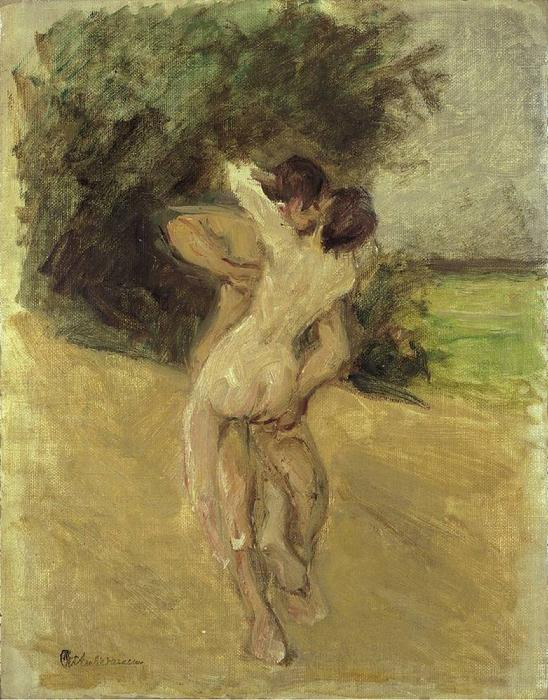 famous painting Love scene of Max Liebermann