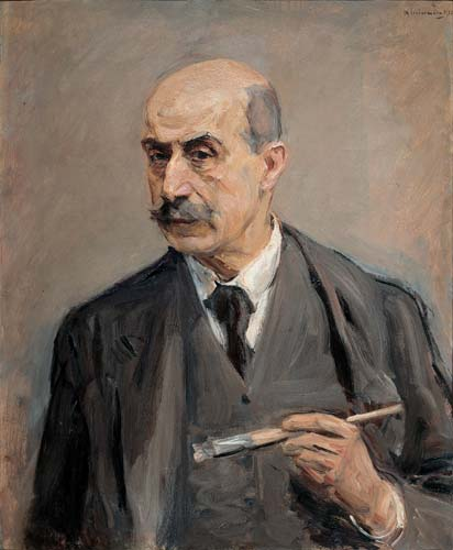 famous painting Self-Portrait with Brush of Max Liebermann