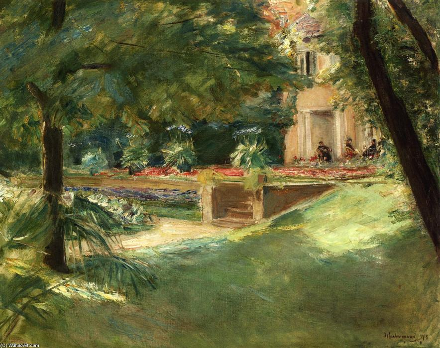 famous painting Terrace overlooking the flower garden in Wannsee of Max Liebermann